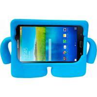 "Capa Boneco Iguy Infantil Para Tablet Samsung Galaxy Tab3 7"" Sm-T110 T111 T113 T116 + Película De Vidro Azul Claro"