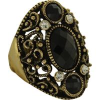 Anel B&G Estilo Pedras Dourado