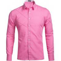 Camisa Social Lines - Rosa