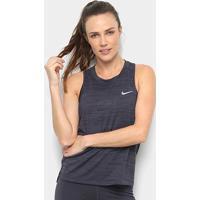 Regata Nike Dri-Fit Miler Slub Lx Feminina - Feminino-Preto