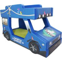 Beliche Safari Cama Carro Azul - Azul - Menino - Dafiti