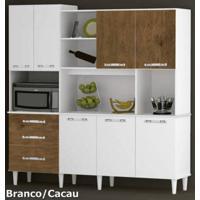 Kit Bruno Para Cozinha Branco Cacau