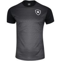 Camiseta Do Botafogo Gradient 19 - Masculina - Preto/Cinza Esc
