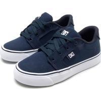 Tênis Dc Shoes Menino Logo Azul Marinho