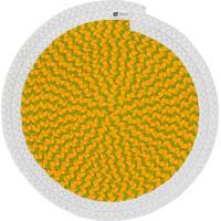 Jogo Americano Orbis Uniborder Mix Yellow 6 Pecas - 36X36