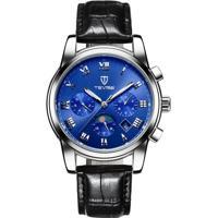 Relógio Tevise 9005 Masculino Automático Pulseira De Couro - Azul