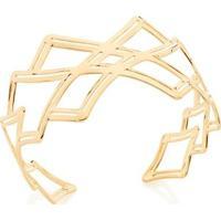 Bracelete Aro Largo Losangos Rommanel - Feminino-Dourado