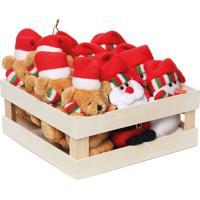 Urso & Papais Noel- Vermelho & Bege- 11X5Cmcromus
