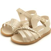 Sandália Pimpolho Menina Metalizada Dourada