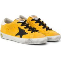 Golden Goose Kids Tênis 'Star' - Amarelo