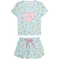 Pijama Malwee 1000073566 B609A-Azul-Claro