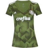 Camisa Do Palmeiras Iii 2018 Adidas - Feminina - Verde Escuro