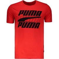 Camiseta Puma Rebel Basic - Masculino-Vermelho