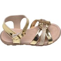 Sandália Infantil Meninina Molekinha Dourada E Glitter