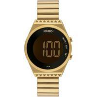 Relógio Euro Digital Feminino - Feminino-Dourado