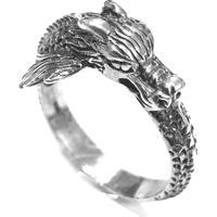 Anel Prata Mil Dragão Bali De Prata Prata