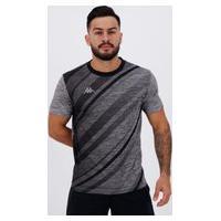 Camiseta Kappa Piacere Cinza Mescla