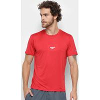 Camiseta Speedo Basic Stretch Masculina - Masculino-Vermelho