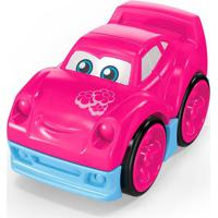 Blocos De Montar - Mega Bloks - Primeiros Carrinhos De Competição - Rosa - Mattel