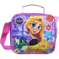 Lancheira Rapunzel®- Roxa & Rosa Claro- 18X20X8Cm