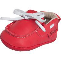 Sapato Ortopé Pespontos Vermelho