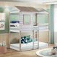 Beliche Infantil Rústico Club House Branco/Natural - Casatema