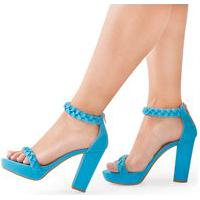 Sandália Modarpe Meia Pata Trançada Azul M24