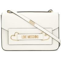 Love Moschino Logo Plaque Tote Bag - Branco