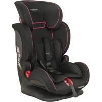 Cadeira Para Auto Kiddo - De 09 À 36 Kg - Pilot - Feminino-Preto+Rosa