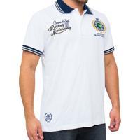 Camiseta Polo Kevingston Speed Rugby Manga Curta Branca