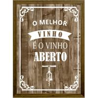 Quadro Porta Rolhas O Melhor Vinho Natural 22X27Cm