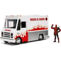 Veículo E Mini Figura Colecionável - Disney - Marvel - Metal - Foodtruck - Deadpool - Dtc