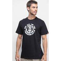 Camiseta Element Multi Icon Masculina - Masculino-Preto