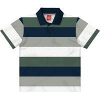 Camisa Polo Infantil Masculina Mescla