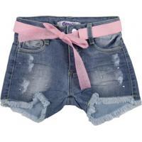 Short Jeans Infantil Oznes Menina