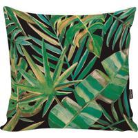 Capa Para Almofada Blackgreen Foliage- Verde & Pretastm Home