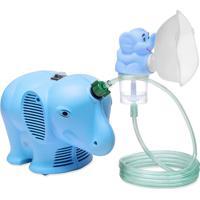 Inalador / Nebulizador Ns Inalafante Bivolt Azul Com Protetor Térmico