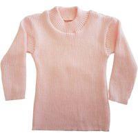 Blusa Cacharrel De Tricô Infantil 0 A 12 Rosa