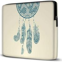 Capa Para Notebook Isoprene Filtro Dos Sonhos 15 Polegadas Com Bolso Feminina - Feminino-Branco