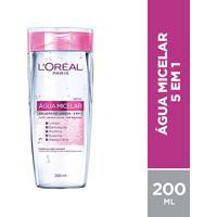 Água Micelar L'Oréal Paris Solução De Limpeza Facial 5 Em 1 200Ml - Feminino-Incolor