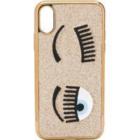 Chiara Ferragni Flirting Embroidered Iphone Xs Case - Dourado