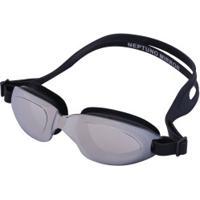 Óculos De Natação Oxer Neptuno Mirror - Adulto - Prata/Preto