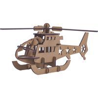 Quebra Cabeça 3D Helicóptero 23 Peças Pasiani Brinquedos Marrom