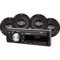 Kit Som Automotivo Multilaser + 4 Alto Falante Au953