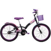 Bicicleta Feminina Aro 20 Fashion High Com Cestinha - Feminino