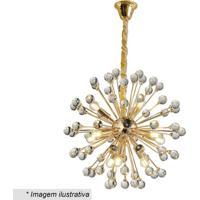 Lustre Wish- Incolor & Dourado- 53Xã˜56Cm- Bivolthevvy