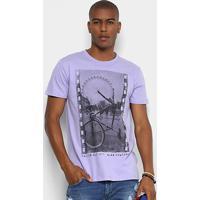 Camiseta Triton Estampada Masculina - Masculino-Lilás