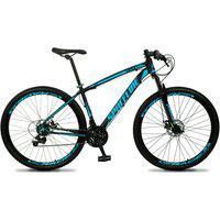 Bicicleta Aro 29 Quadro 21 Câmbio Tras. Shimano 21V Freio Mecânico Vega Preto/Azul - Spaceline