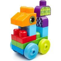 Mega Bloks First Builders Aventuras Animais Sacola Com 20 Peças Mattel Multicolorido
