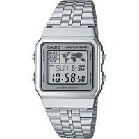 999b9a0cdda Netshoes  Relógio Casio Vintage - Masculino-Prata